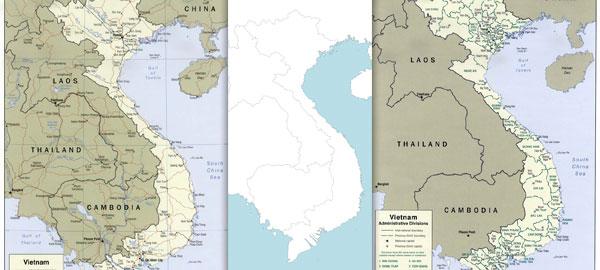 Free maps of Vietnam