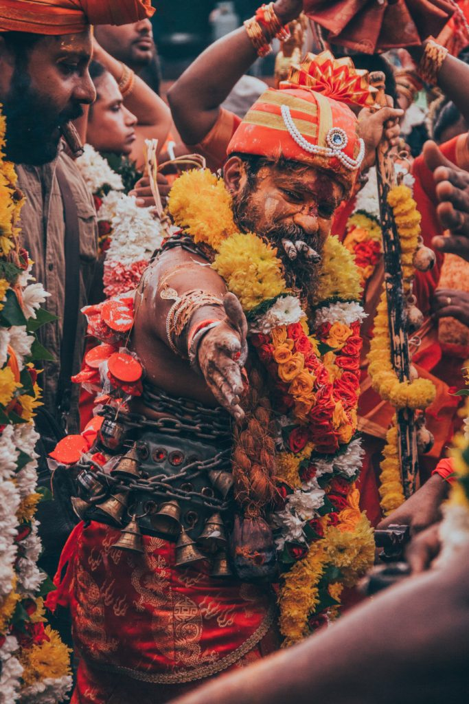 Malaysian Hindu men during a festival