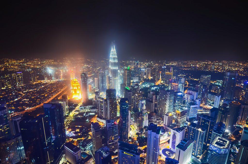 Kuala Lumpur city with the Petronas towers