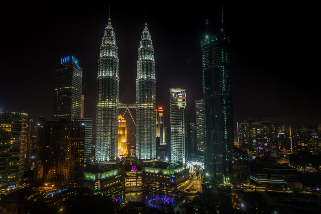 View of Kuala Lumpur with the Petronas towers
