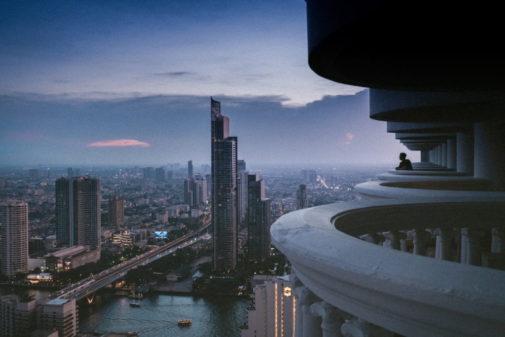 View from a high rise in Bangkok