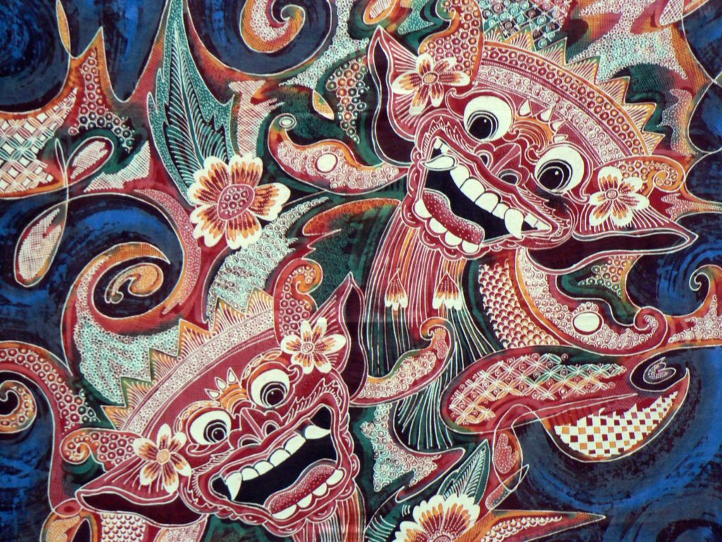 Indonesian silk painting