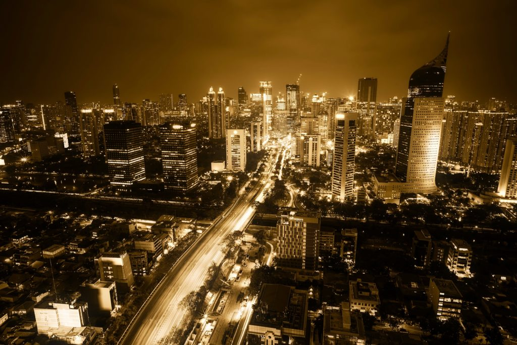 View of Jakarta by night