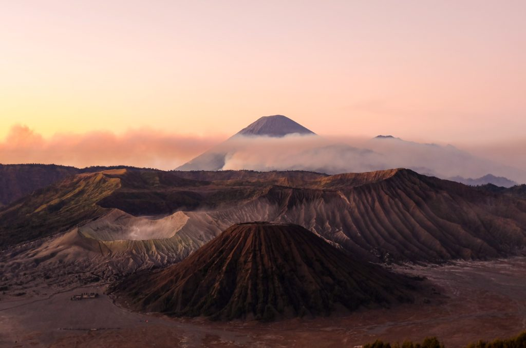 view of a volcano