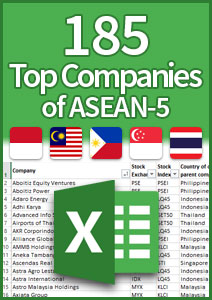 Top companies of ASEAN-5 spreadsheet cover